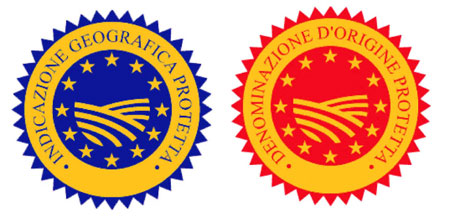 DOP-Siegel in neuer Farbkombination rot-gelb