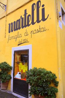 Pasta Martelli in der Toskana
