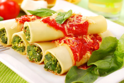 Cannelloni mit Spinat