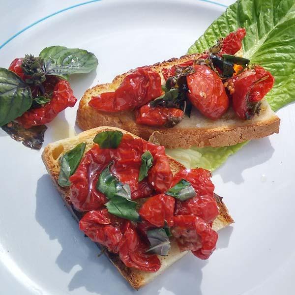 Bruschetta-Rezept mit Pomodori essiccati al Sole