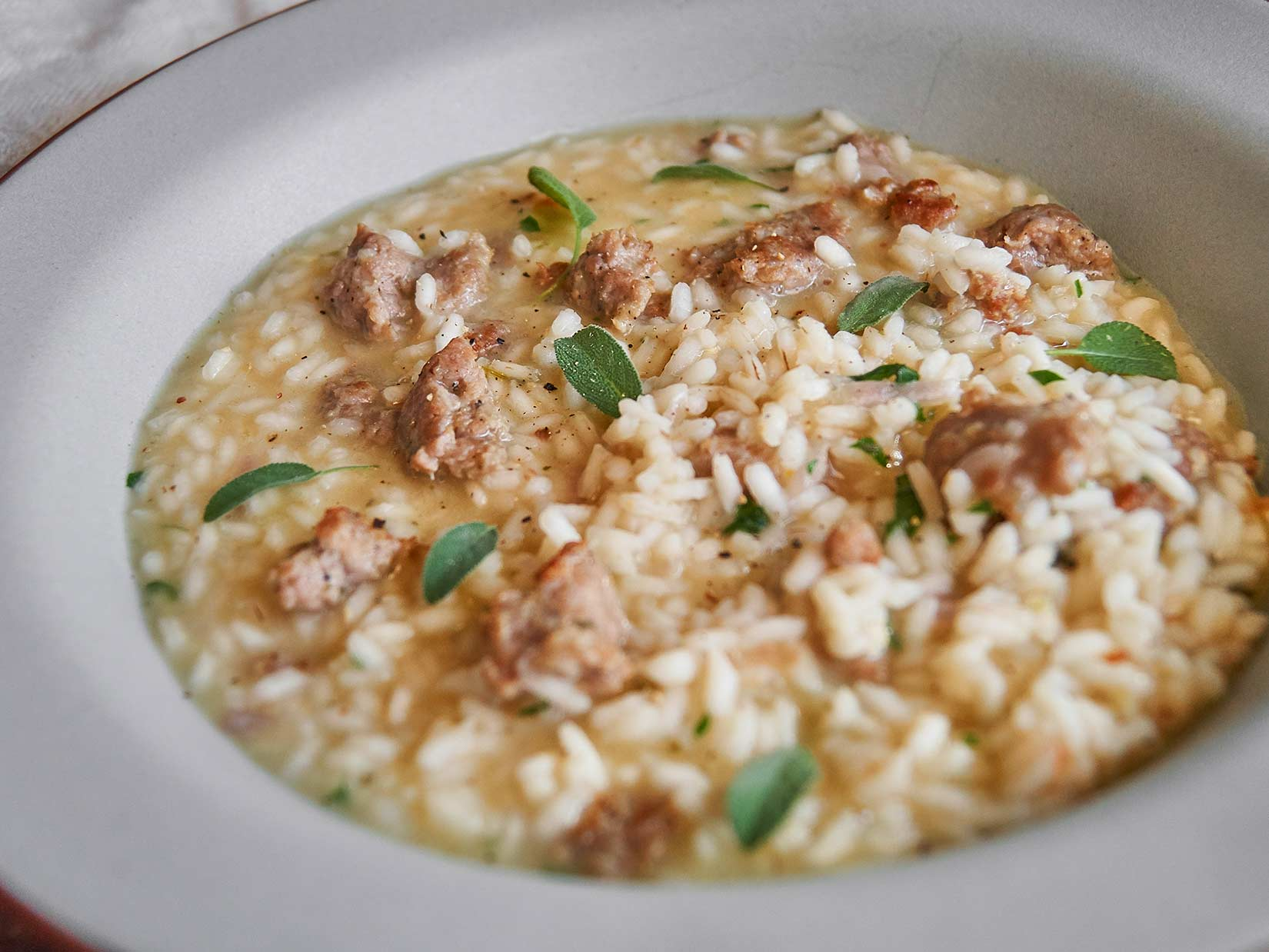 Salsiccia-Rezept für würziges Risotto