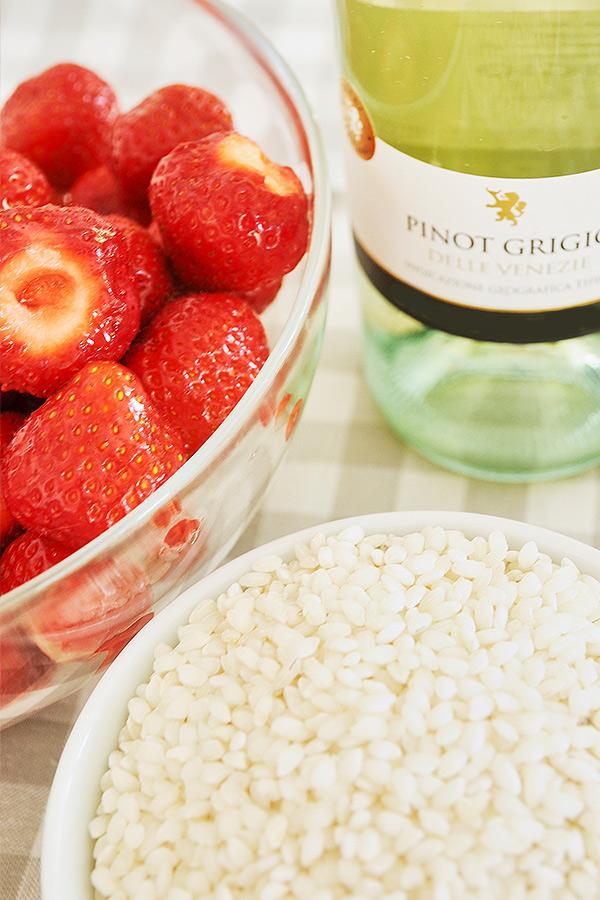 Zutaten für Erdbeer-Risotto