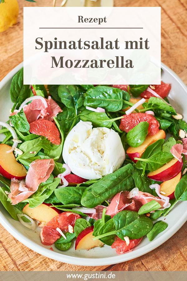 Spinatsalat mit Mozzarella