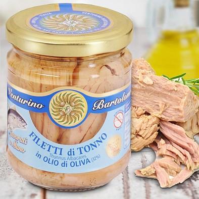 Filetti di Tonno Pinna Gialla in Olio di Oliva