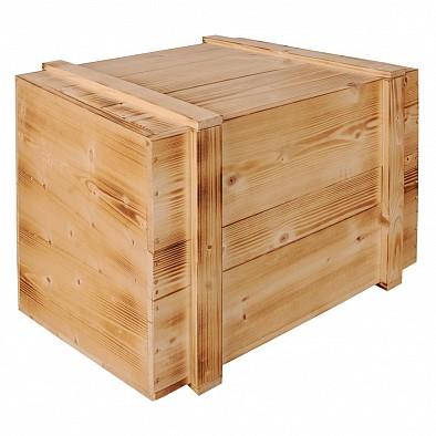 Extragroße massive Holzkiste mit Schiebedeckel
