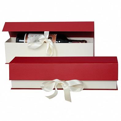 Schatulle mit Schleife für 1 Flasche Wein