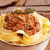 Ragù di Chianina Toskanische Sauce mit Chianina Rindfleisch