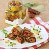 Involtini di zucchine Zucchini Röllchen